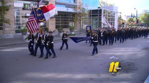 big chill affects turnout for raleigh veterans day parade abc11