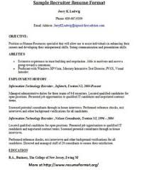 Recruiter Sample Resume Resume Sample From Resumebear Com Find Great Tips For Writing