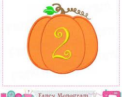 pumpkin 2nd birthday etsy