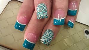 how to ox blue diamond nails youtube