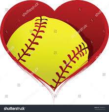 halloween softball background heart softball inside stock vector 129090575 shutterstock