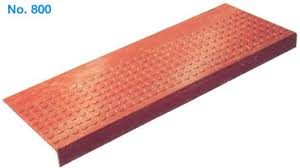 rubber stair tread systems with design patterns