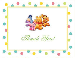 thank you cards the baby pooh and friends baby shower thank you cards