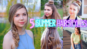 5 heatless summer hairstyles easy u0026 cute youtube