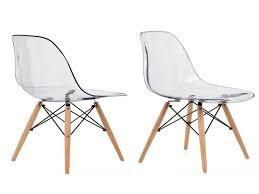 chaises plexi chaise chaise plexi lot de 2 chaises scandinaves bovary plexi