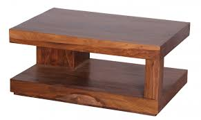 Wohnzimmertisch Country Wohnling Coffee Table Solid Wood Sheesham 90cm Design Living Room