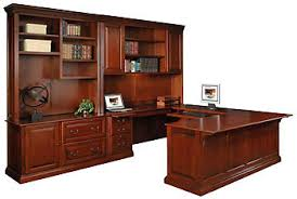 Executive Desk With Hutch Hoot Judkins Wood Maple Wood U Shape Executive Desk Storage Hutches