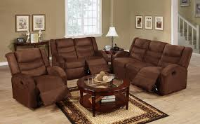 White Leather Recliner Sofa Set Chocolate Brown Velvet Recliner Couch Which Adorned With Small