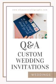 wedding invitations questions 5 commonly asked questions about custom wedding invitations