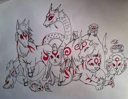 drawing manga animals okami characters youtube