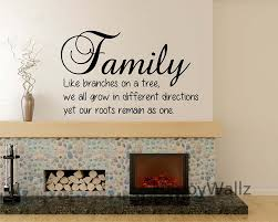 aliexpress com buy family quote wall sticker family branches on aliexpress com buy family quote wall sticker family branches on tree roots as one diy family lettering wall quote modern wallpaper living room q25 from