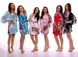 and bridesmaid robes bridal kimono robe bridesmaid getting ready robe you choose size