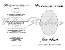 Templates For Funeral Program Easy Printable Template Funeral Program Spanish