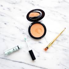 get rid of under eye circles with green and orange into the gloss