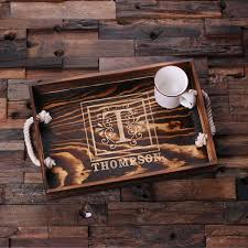 personalized trays engraved wooden serving tray trays room accessories and woods