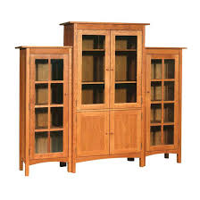 White Wood Bookcases Bookcase Mission Solid Oak Bookcase With Glass Door Beautiful