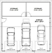 36x36 3 car garage 36x36g4a 1 295 sq ft excellent floor plans