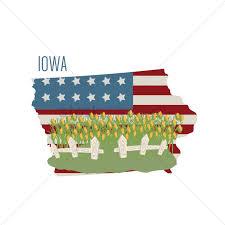 map usa iowa iowa state map with corn field vector image 1551658 stockunlimited