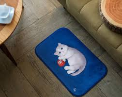 Small Bath Mats And Rugs Super Soft Small Rug With Sushi Cat Patterns Pets Rug Bath Rug