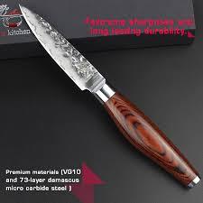online get cheap hammered damascus kitchen knife aliexpress com