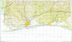 Pensacola Map Download Topographic Map In Area Of Pensacola Fort Walton Beach