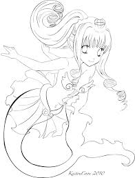 mermaid trade lineart by kaitoucoon on deviantart