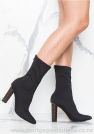 womens boot socks nz womens black high heels shoes raegan sock boot at