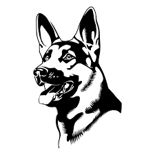 german shepherd face die cut decal car window wall bumper