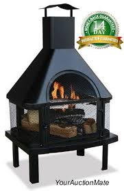 outdoor firehouse fire pit fireplace open air patio 360 degree