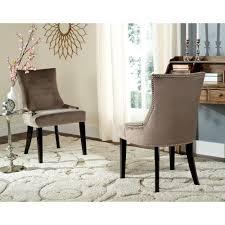 Safavieh Bistro Chairs Safavieh Lester Mushroom Cotton Dining Chair Set Of 2 Mcr4709g