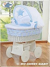 Wicker Crib Bedding New Large Wicker Crib Baby Moses Basket With Solid Stand