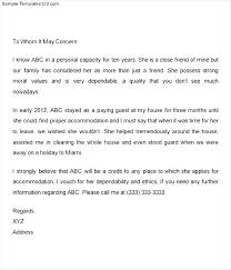 College Letter Of Recommendation From A Family Friend cover letter exles reference letter for a friend character best
