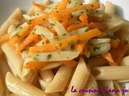 cuisiner les topinambours a la poele penne et poêlée de topinambour et carotte la cuisine d ju