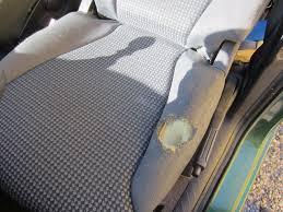 reparer trou de cigarette siege voiture réparation d un trou sur siège fiat ulysse intérieur véhicule