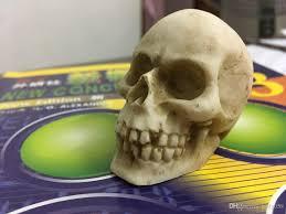 2017 mini small scary human skull head home decoration resin skull