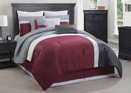 Grey Quilted Comforter Madison Park Buster 7 Piece Comforter Set With Red And Gray
