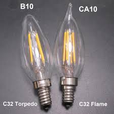 4w candelabra base e12 b10 c32 torpedo bullet blunt tip candle
