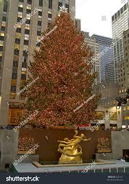 worlds most famous christmas tree prometheus stock photo 2261311