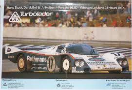 porsche racing poster porsche 962 le mans 24h 1987 gp c original kkk turbolader poster