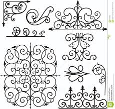 wrough iron ornaments stock vector image of border color 3739503