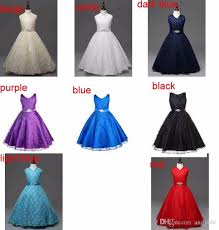 light blue dresses for kids 2018 birthday party daddy daughter dance teenager dress kids