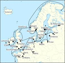 Viking Map File Viking Age Trade Routes In North West Europe Png Wikimedia