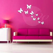 buy butterflies acrylic 3d wall art sticker 10 pieces online at buy butterflies acrylic 3d wall art sticker 10 pieces online at low prices in india amazon in