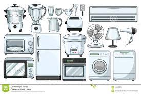 dans la cuisine appareils électroniques utilisés dans la cuisine illustration de