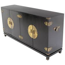 Black Modern Sideboard Black Lacquer Oriental Mid Century Modern Sideboard Or Credenza
