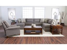 Klaussner Coffee Table by Klaussner Jaxon Three Piece Sectional Sofa With Flared Arms And