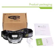 oxyled hl 01 usb rechargeable led headlamp 200lm handheld