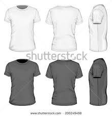 vector mens tshirt design template front stock vector 81672982