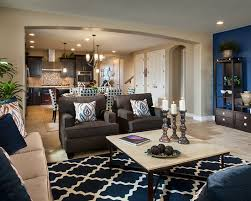 model home interior decorating window treatment idea for two story family room jpg with model