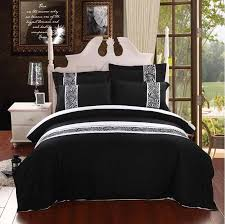 White Cotton Bed Linen - modern embroidered hotel bedding luxury bedding black and white
